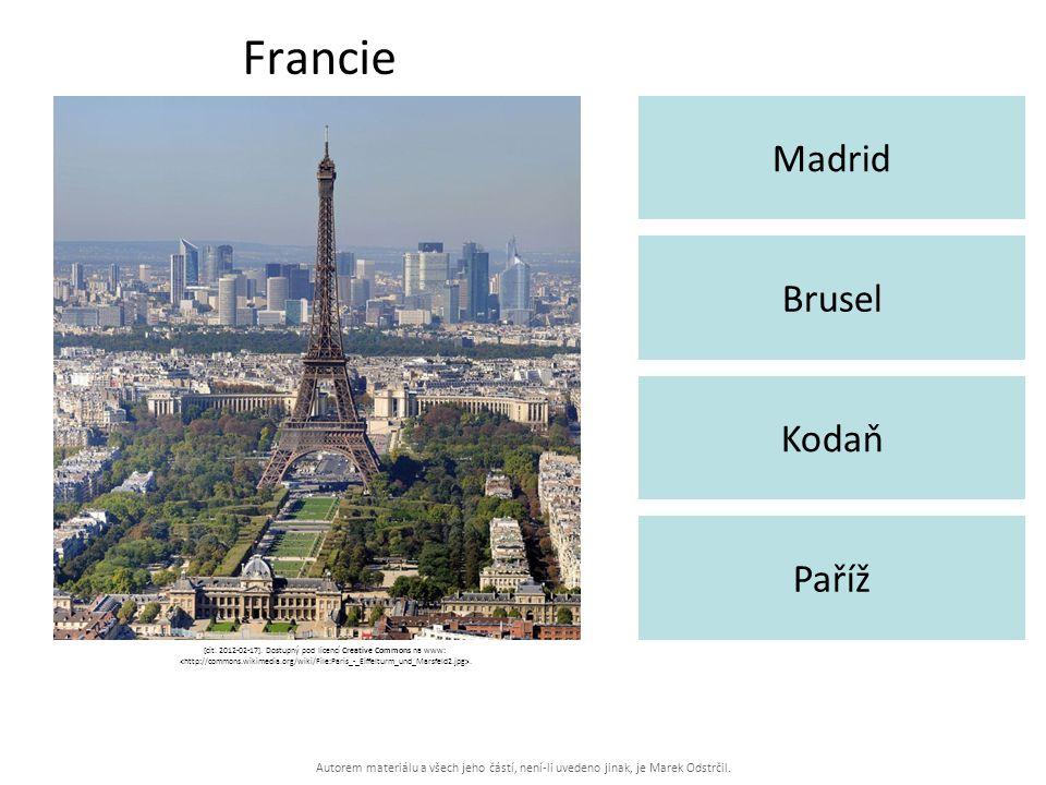 Autorem materiálu a všech jeho částí, není-li uvedeno jinak, je Marek Odstrčil. Francie Madrid Paříž Brusel Kodaň [cit. 2012-02-17]. Dostupný pod lice