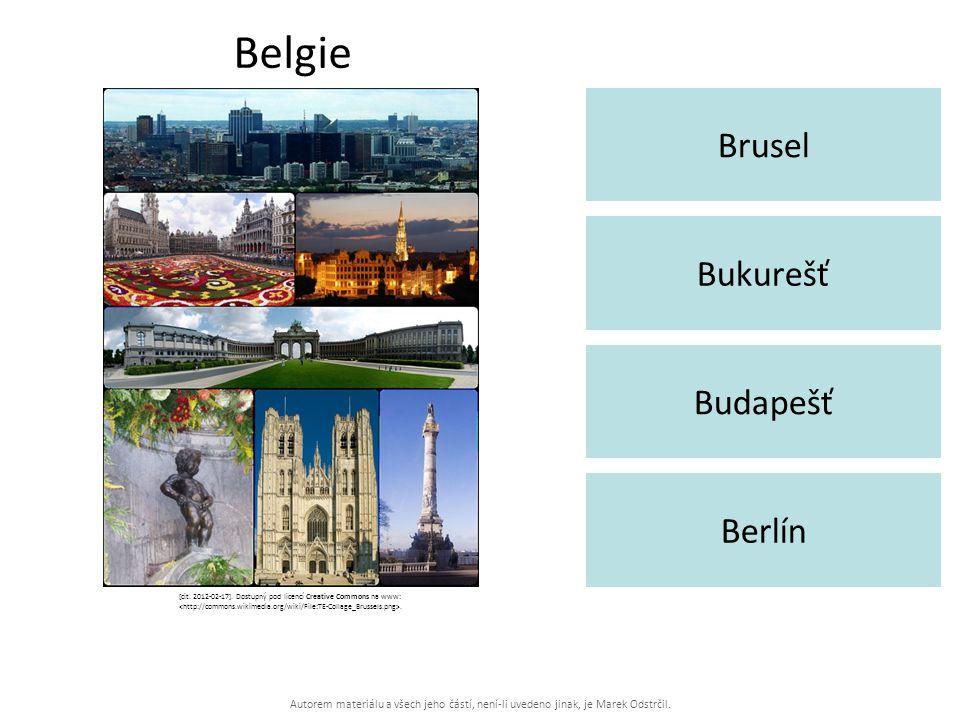 Autorem materiálu a všech jeho částí, není-li uvedeno jinak, je Marek Odstrčil. Belgie Brusel Berlín Bukurešť Budapešť [cit. 2012-02-17]. Dostupný pod