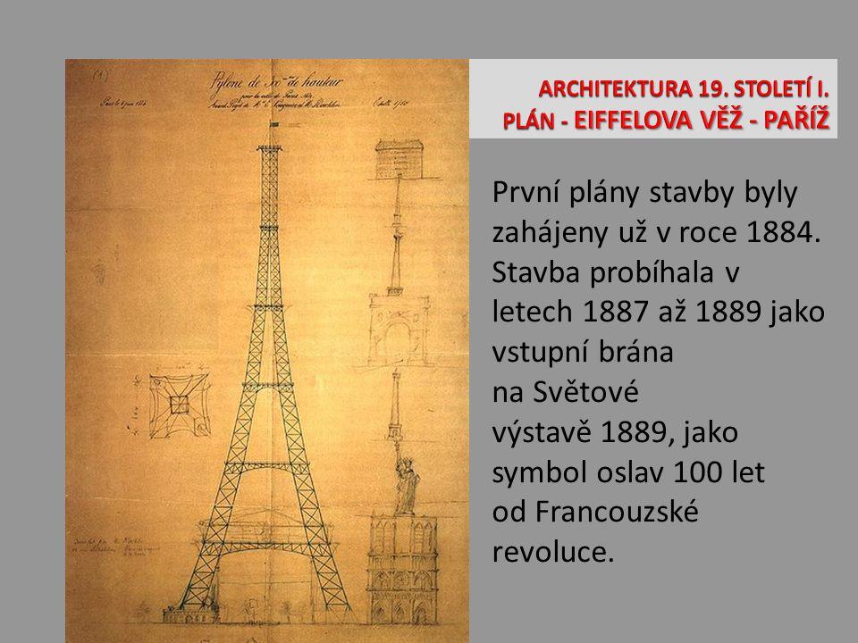 První plány stavby byly zahájeny už v roce 1884. Stavba probíhala v letech 1887 až 1889 jako vstupní brána na Světové výstavě 1889, jako symbol oslav