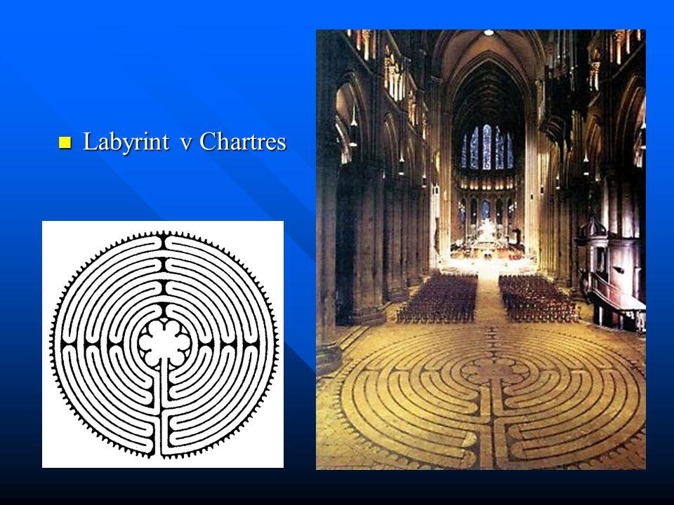 Labyrint v Chartres Labyrint v Chartres