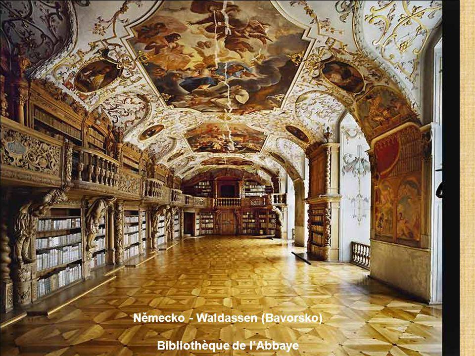 Německo – Metten Bibliothèque bénédictine de l'Abbaye