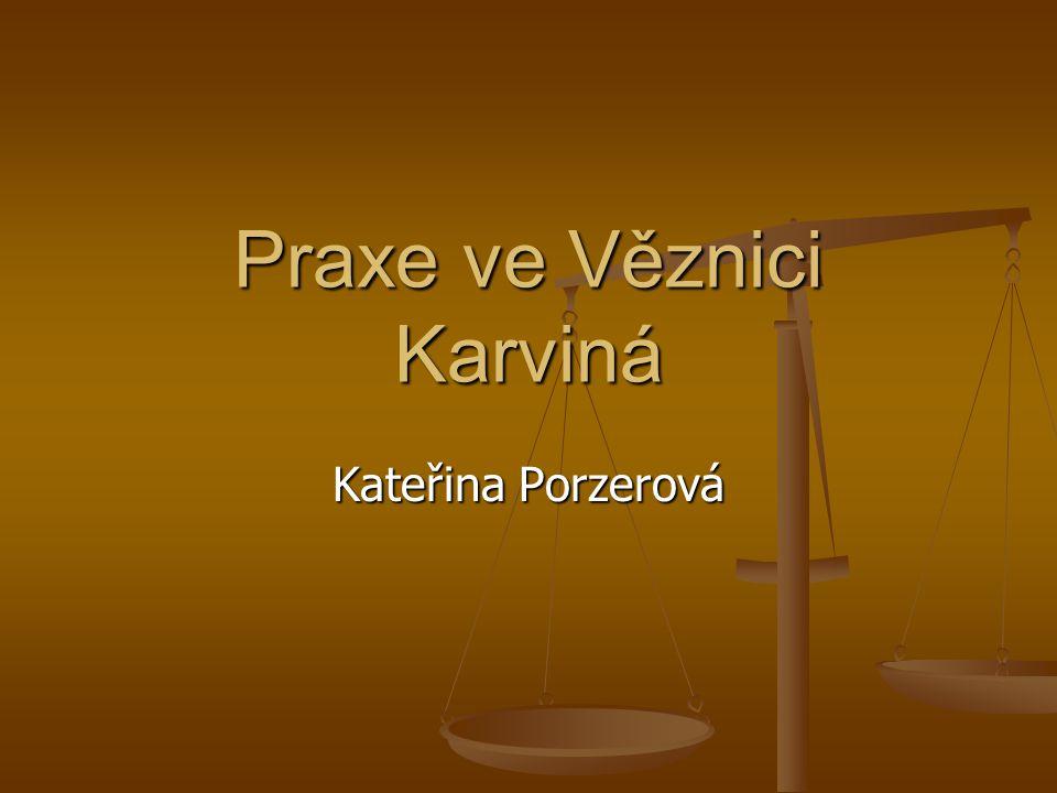 Praxe ve Věznici Karviná Kateřina Porzerová