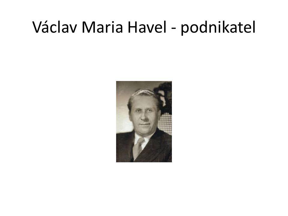 Václav Maria Havel - podnikatel