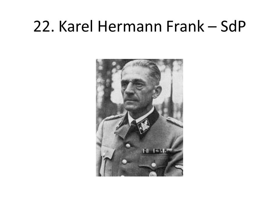 22. Karel Hermann Frank – SdP
