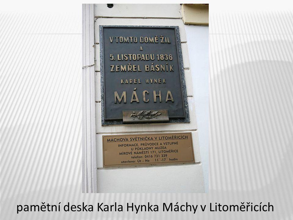 13 pamětní deska Karla Hynka Máchy v Litoměřicích