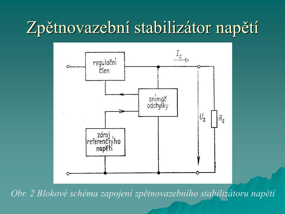 Zpětnovazební stabilizátor napětí Obr.