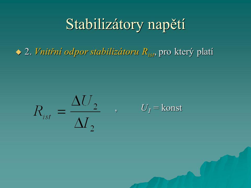 Stabilizátory napětí  2.