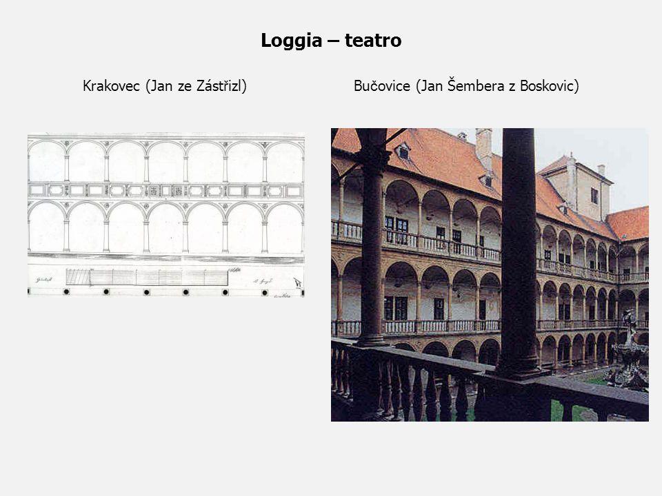 Loggia – teatro Krakovec (Jan ze Zást ř izl) Bu č ovice (Jan Šembera z Boskovic)
