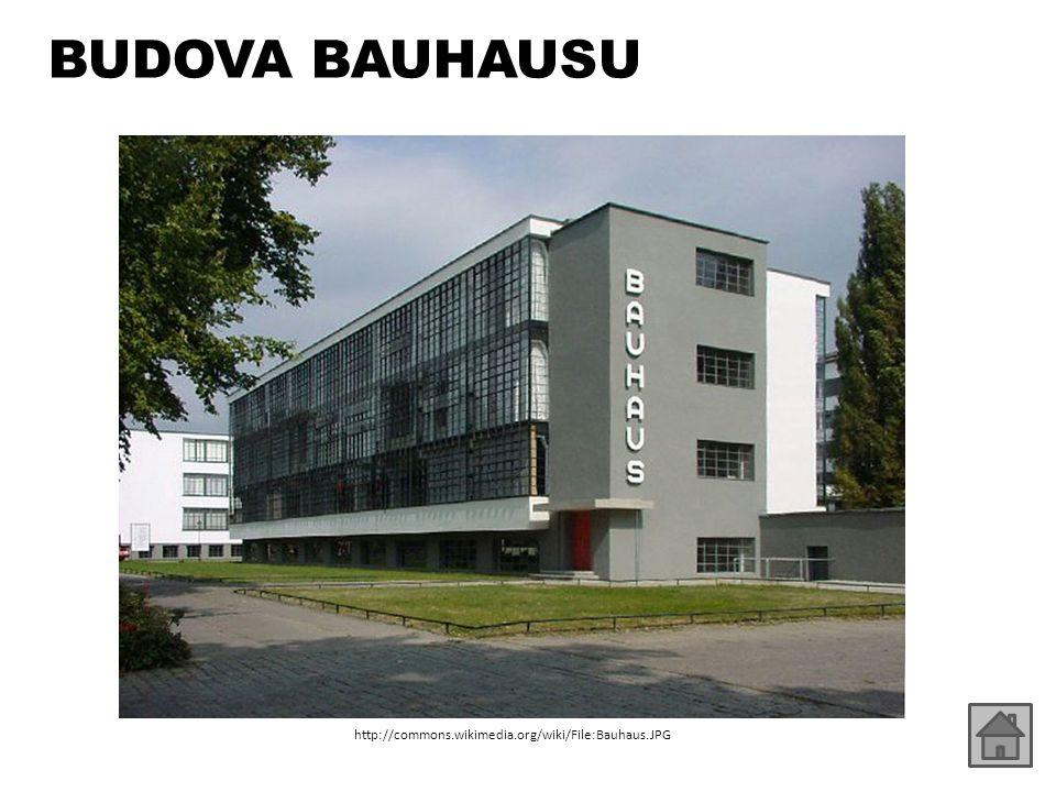 BUDOVA BAUHAUSU http://commons.wikimedia.org/wiki/File:Bauhaus.JPG