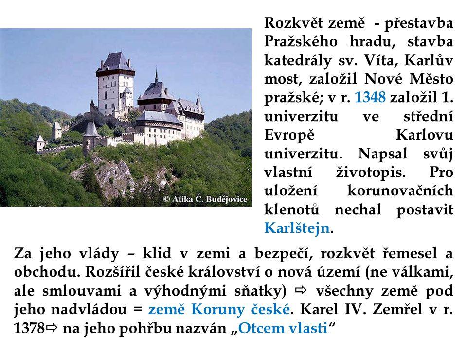 Rozkvět země - přestavba Pražského hradu, stavba katedrály sv.