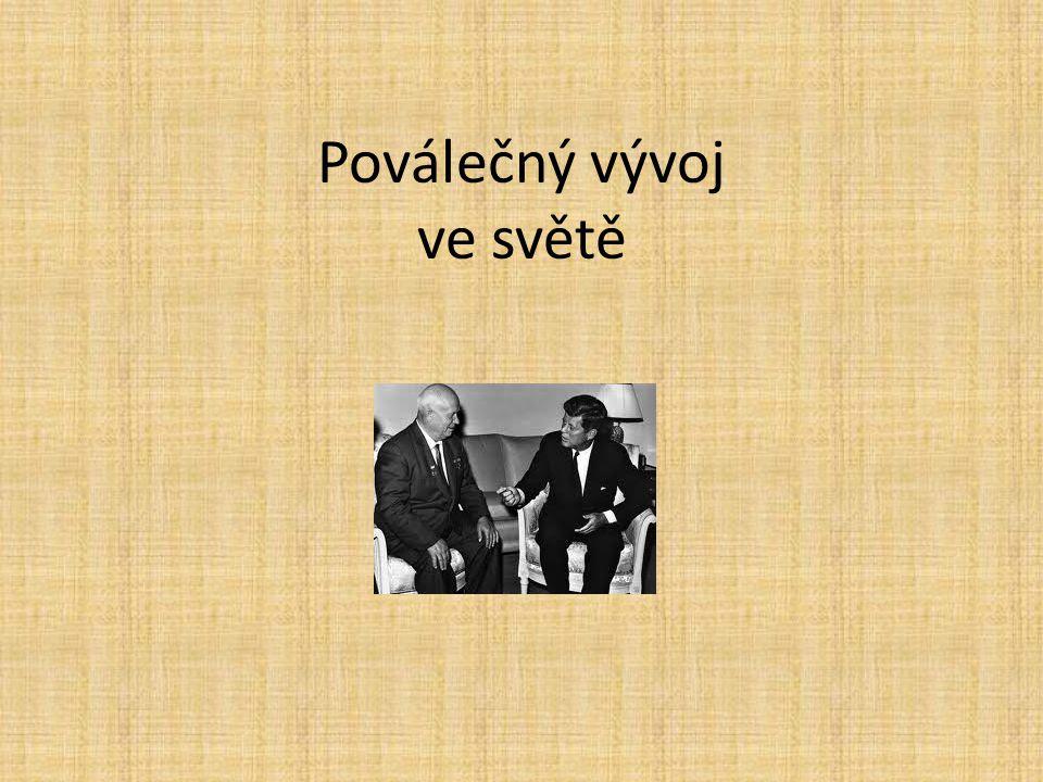"""USA 1945-1953 Harry Truman – politika zadržování komunismu """"mccartysmus – senátor Joseph McCarty – vyšetřování tzv.neamerické činnosti – podezření ze sympatií či špionáže pro SSSR – levicoví intelektuálové, umělci aféra manželů Rosenbergových – popraveni za špionáž http://cs.wikipedia.org/wiki/Julius_Rosenberg http://www.tyden.cz/rubriky/zahranici/amerika/rosen bergovi-jedini-popraveni-civiliste-za-spionaz-v- usa_195433.html http://www.tyden.cz/rubriky/zahranici/amerika/rosen bergovi-jedini-popraveni-civiliste-za-spionaz-v- usa_195433.html"""