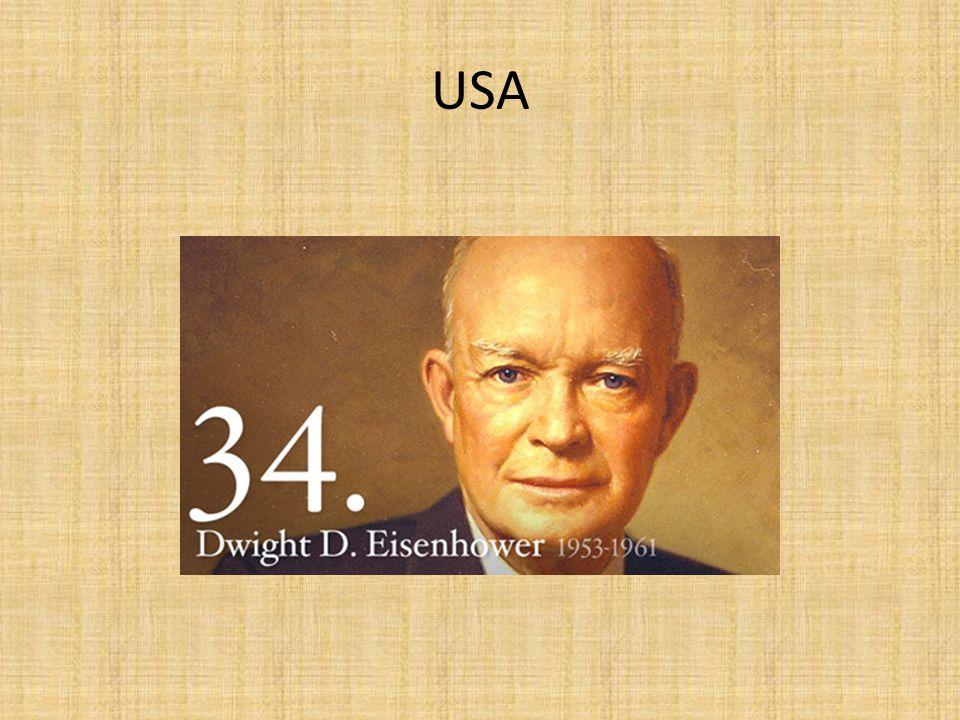zahraniční politika – koncepce zadržování komunismu – závody ve zbrojení, snaha o vojenskou rovnováhu Eisenhowerova doktrína – možnost zasáhnout na Blízkém východě (Jordánsko, Sýrie, Libanon) http://www.presidency.ucsb.edu/ws/index.ph p?pid=11007&st=&st1= anglicky http://www.presidency.ucsb.edu/ws/index.ph p?pid=11007&st=&st1=