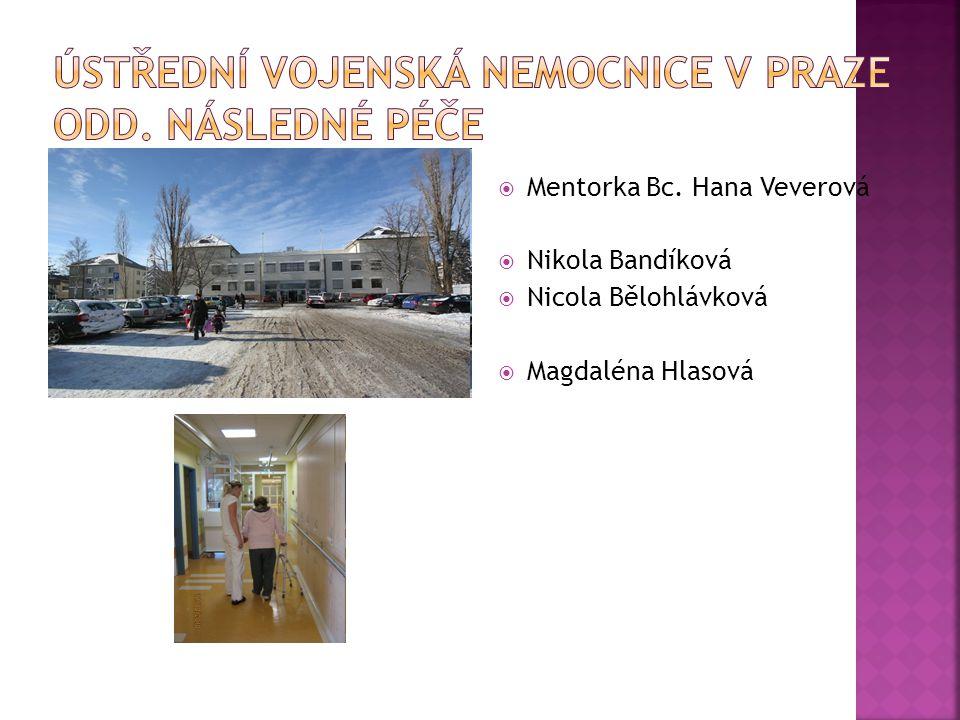  Mentorka Bc. Hana Veverová  Nikola Bandíková  Nicola Bělohlávková  Magdaléna Hlasová