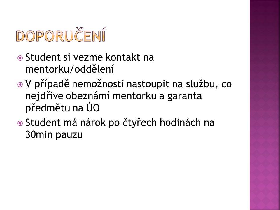  Mentorka:  Vr.s. Jiřina Rychlá  Studentka v rámci Erasmu