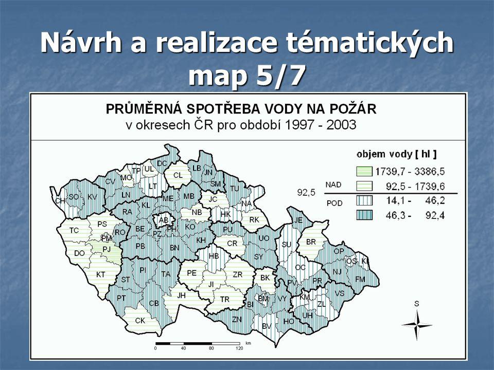 Návrh a realizace tématických map 5/7