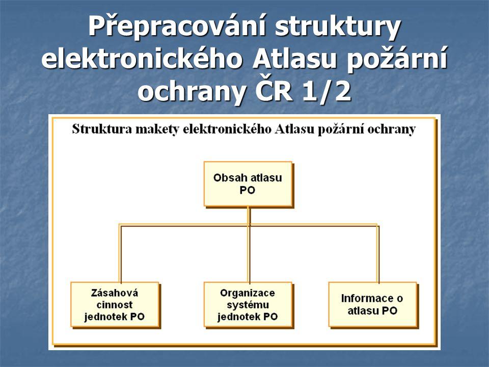 Přepracování struktury elektronického Atlasu požární ochrany ČR 1/2