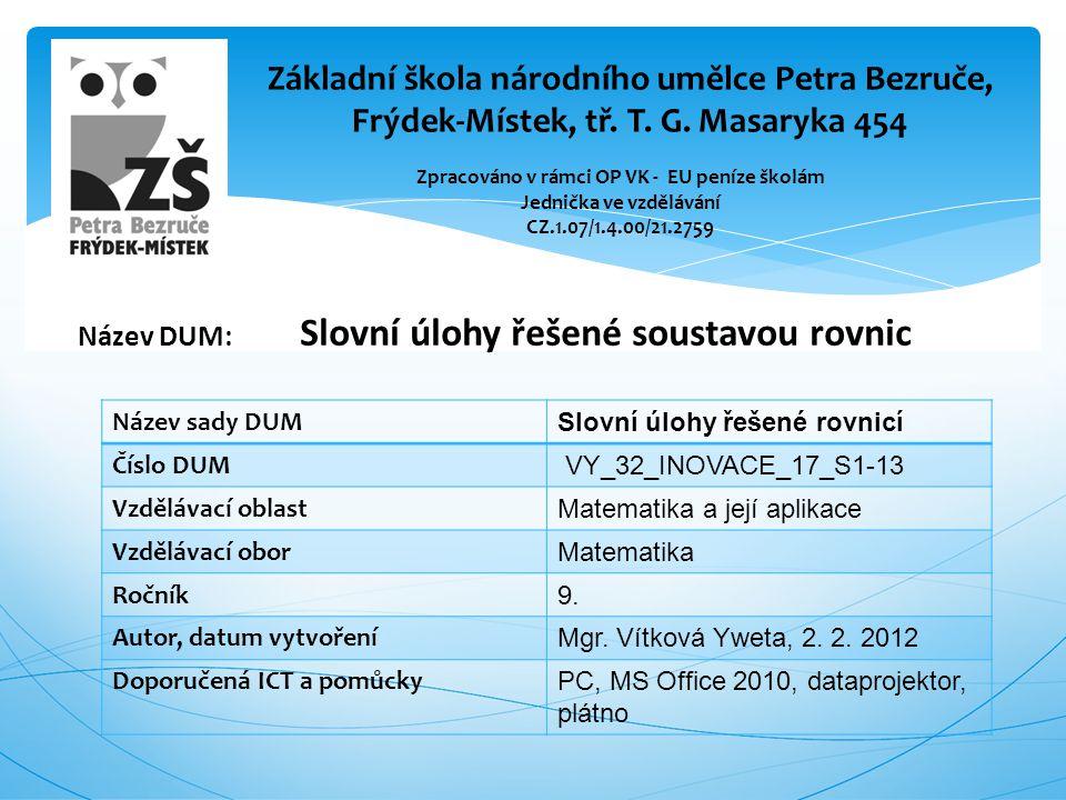 Rovnice,slovní úlohy.Brno: Nová škola, 2006. ISBN 80-85607-96-4.