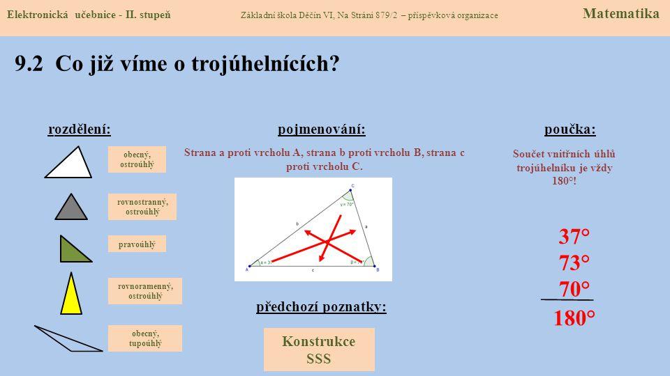 9.1 Konstrukce trojúhelníku typu SuS Elektronická učebnice - II.