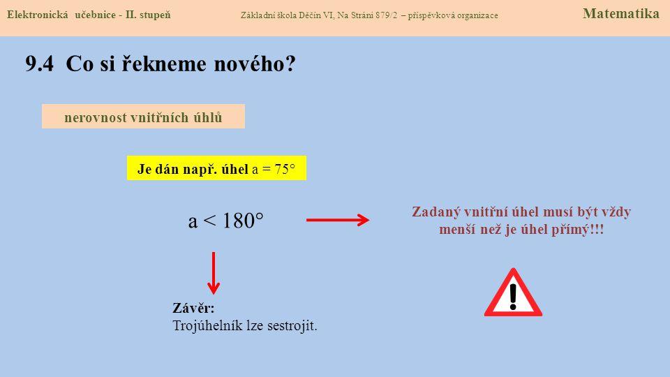 9.3 Jaké si řekneme nové termíny a názvy. Elektronická učebnice - II.