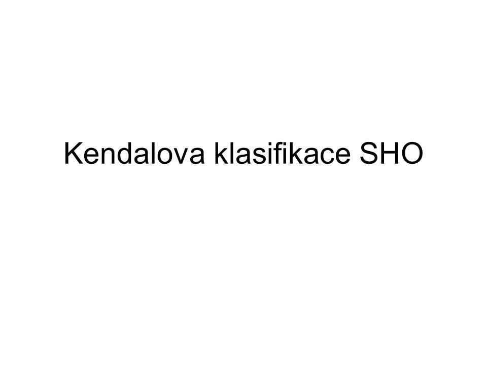 Kendalova klasifikace SHO