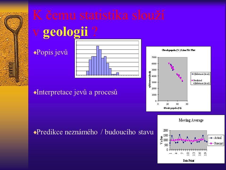 Základní pojmy statistiky  hromadné jevy  statistická jednotka  statistický znak (náhodná veličina, proměnná):