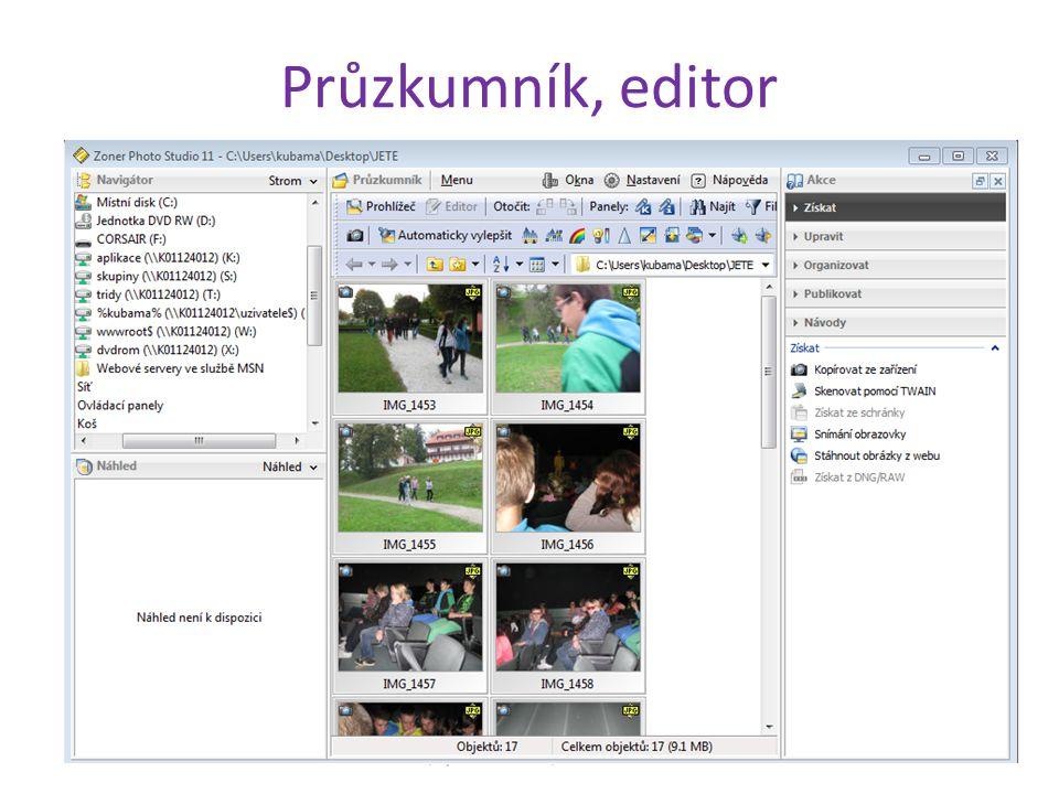 Průzkumník, editor ZŠ, Týn nad Vltavou, Malá Strana