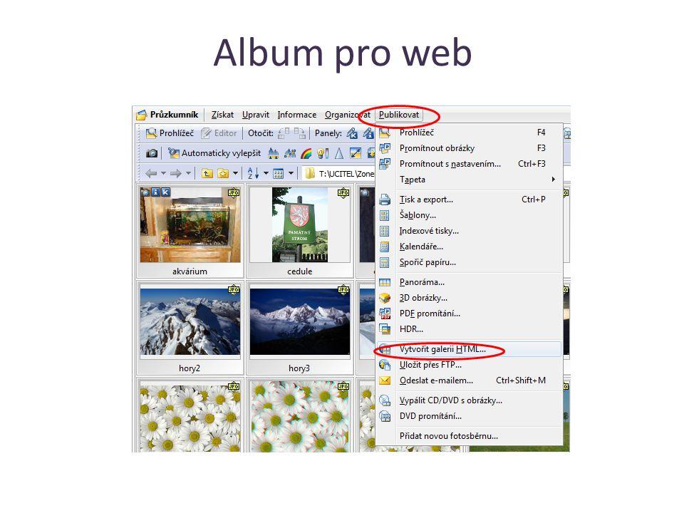 Album pro web