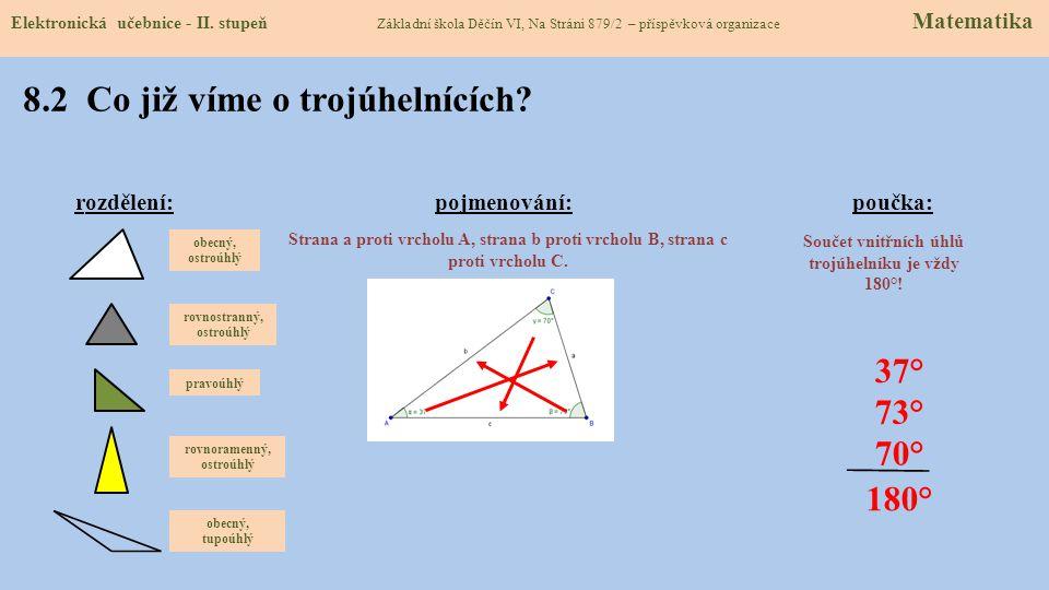 8.2 Co již víme o trojúhelnících.Elektronická učebnice - II.