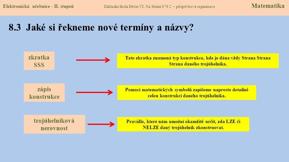 8.3 Jaké si řekneme nové termíny a názvy.Elektronická učebnice - II.