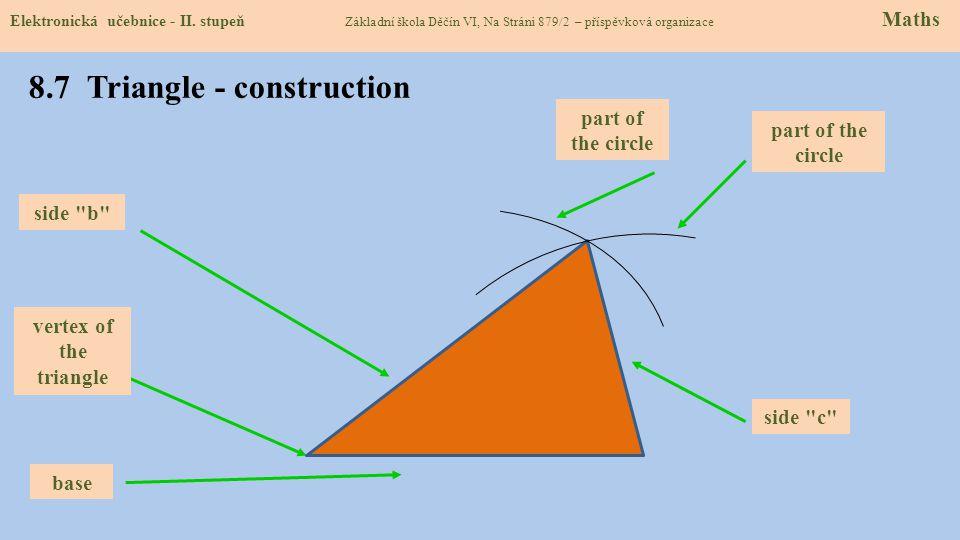 8.7 Triangle - construction Elektronická učebnice - II.