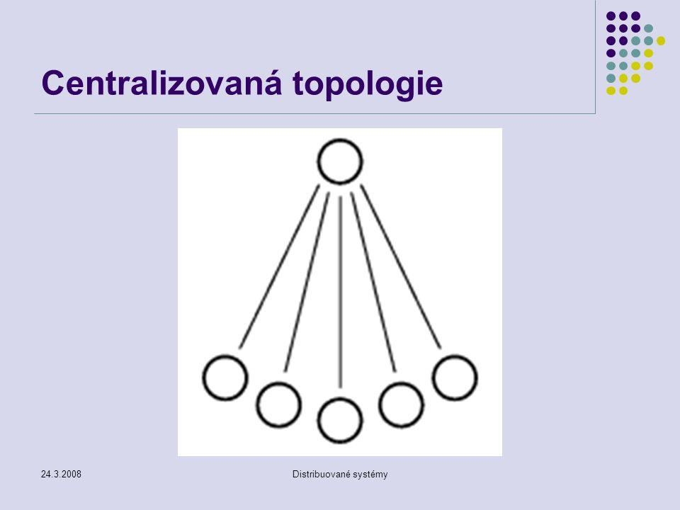24.3.2008Distribuované systémy Centralizovaná topologie
