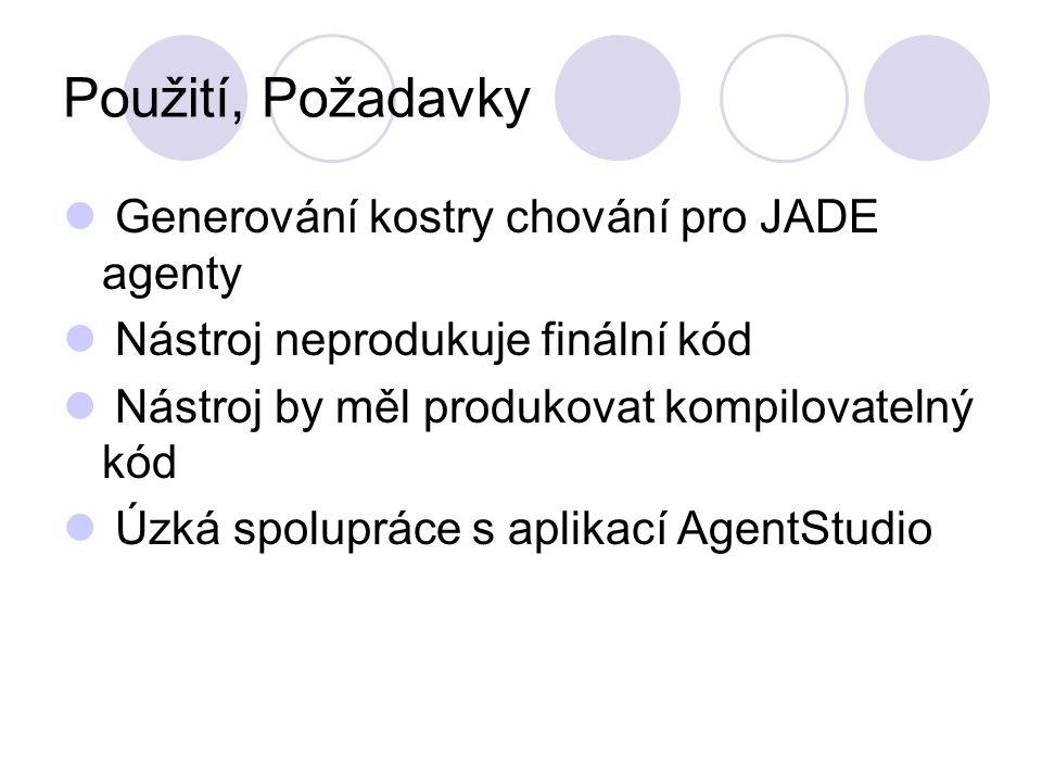 Proces generování kódu XML JADEGen Agent