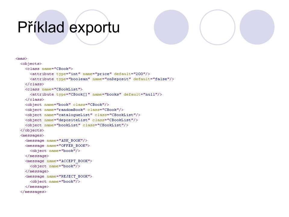 Příklad exportu