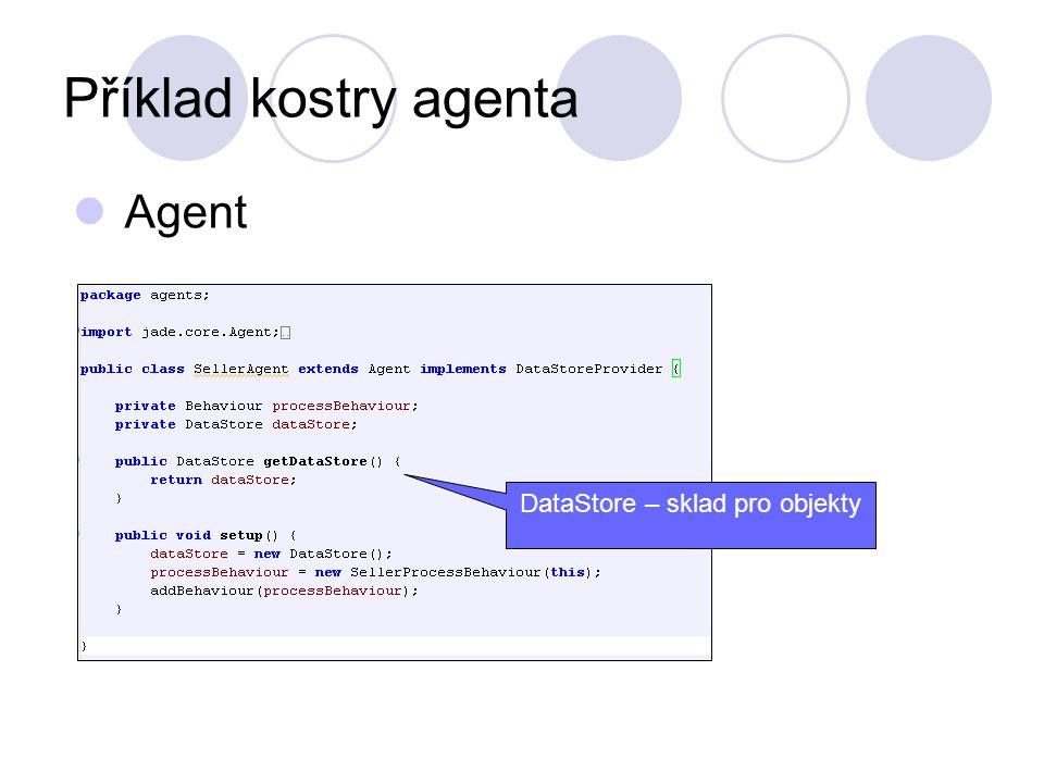 Příklad kostry agenta Agent DataStore – sklad pro objekty
