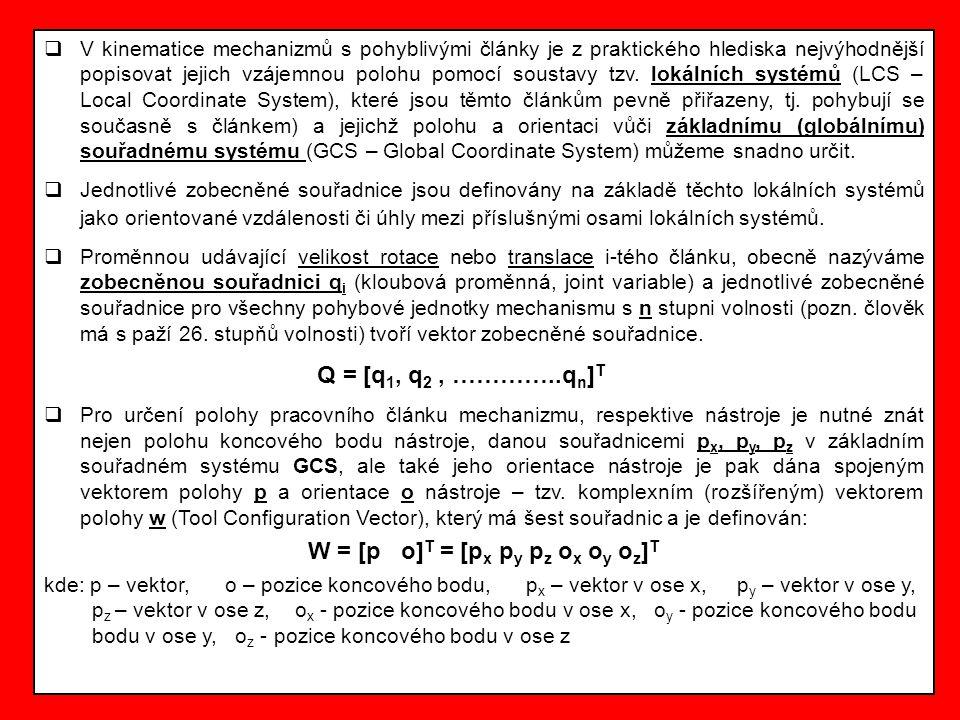 3.Denavitova a Hartenbergova homogenní matice a tzv.