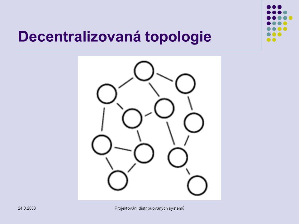 24.3.2008Projektování distribuovaných systémů Decentralizovaná topologie