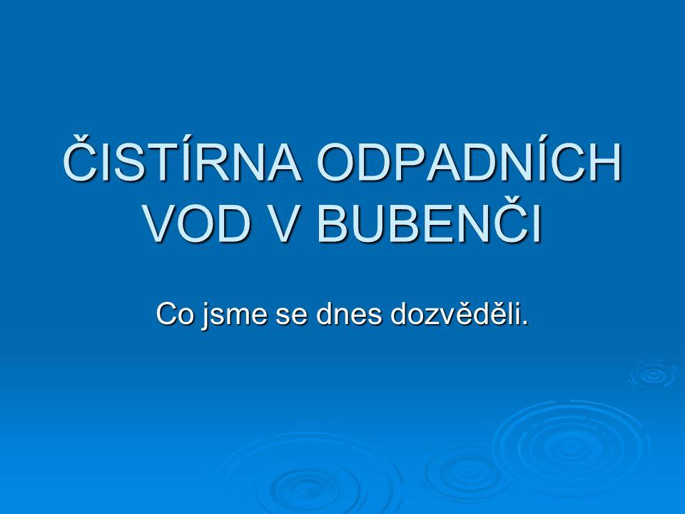 Čistírna odpadních vod v Bubenči  Čistírna se stavěla v letech 1901 – 1906  Byla funkční do roku 1967  Částí čistírny:  Sklad chemikálií, později kotelna  Vodní kola odvádějící vodu do 1.