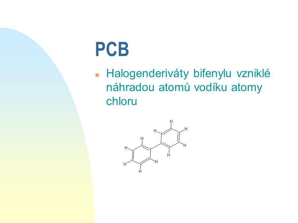 Dioxiny n Skupina čítající 75 sloučenin, z nichž nejznámější je 2, 3, 7, 8- tetrachlordibenzo- p- dioxin označovaný jako TCDD (dioxin) n vznikají jako vedlejší produkt např.