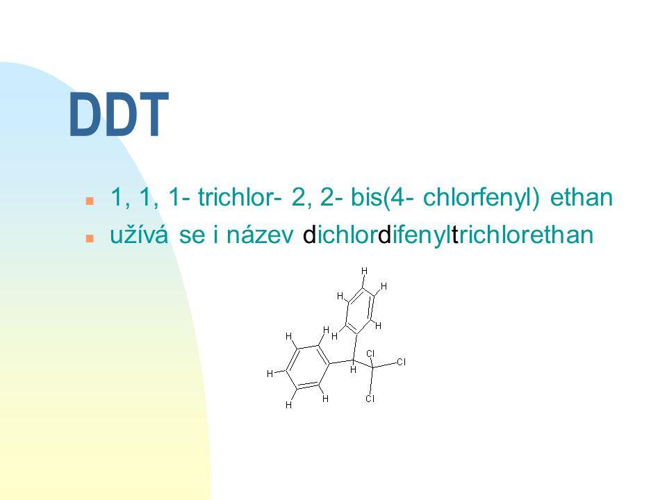 Historie DDT n poprvé syntetisován německým chemikem Othmarem Zeidlerem roku 1874 n v roce 1939 Švýcar P.