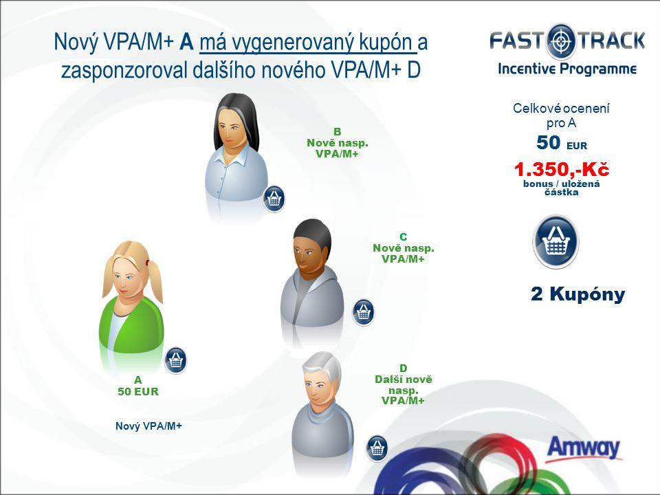 A 50 EUR Nový VPA/M+ B Nově nasp. VPA/M+ C Nově nasp.