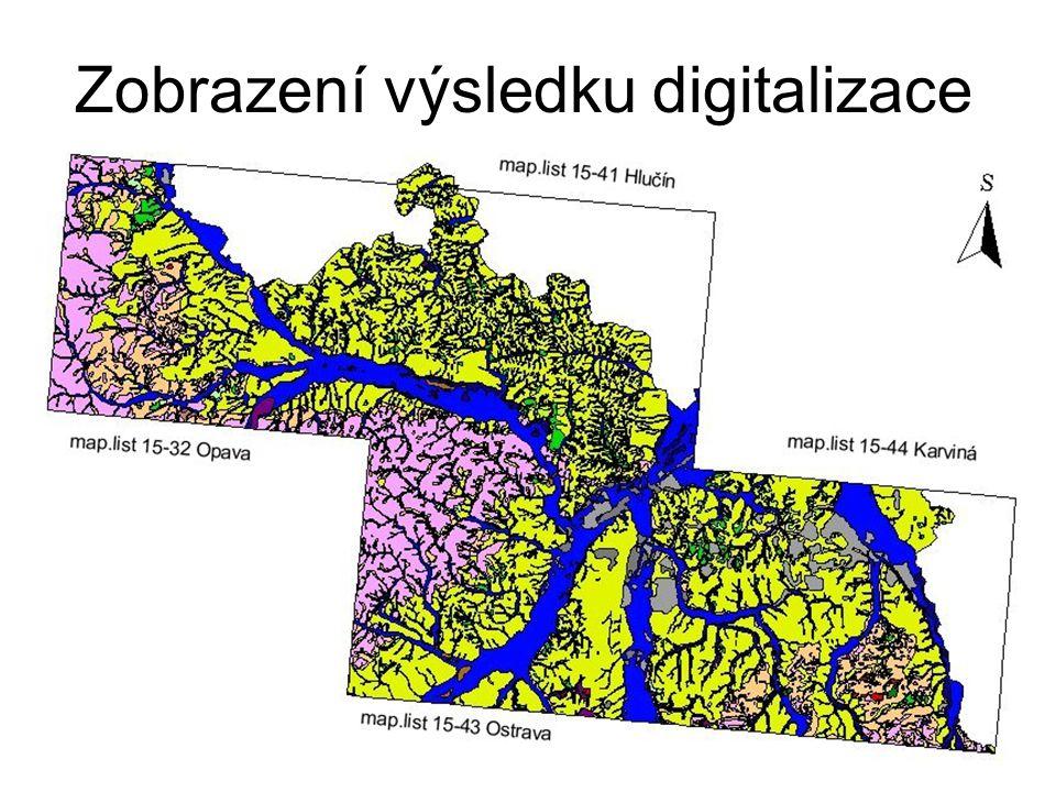 Zobrazení výsledku digitalizace