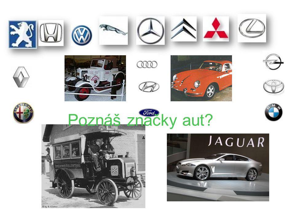 Poznáš značky aut?