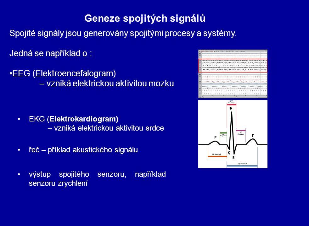 Spojité signály jsou generovány spojitými procesy a systémy. Jedná se například o : EEG (Elektroencefalogram) – vzniká elektrickou aktivitou mozku Gen
