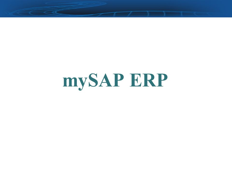 mySAP ERP