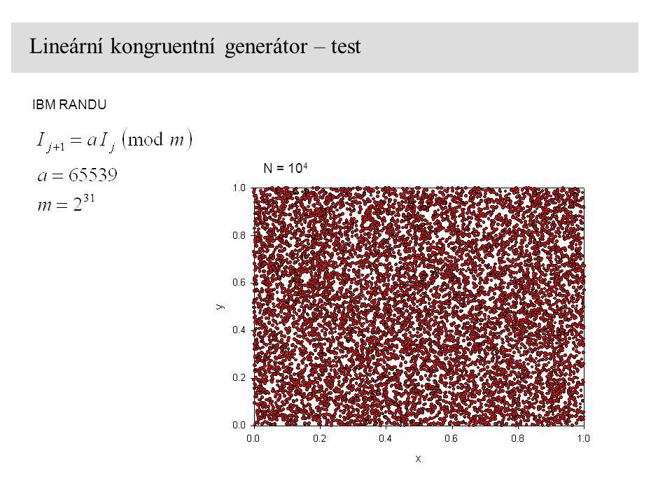 Lineární kongruentní generátor – test IBM RANDU N = 10 4