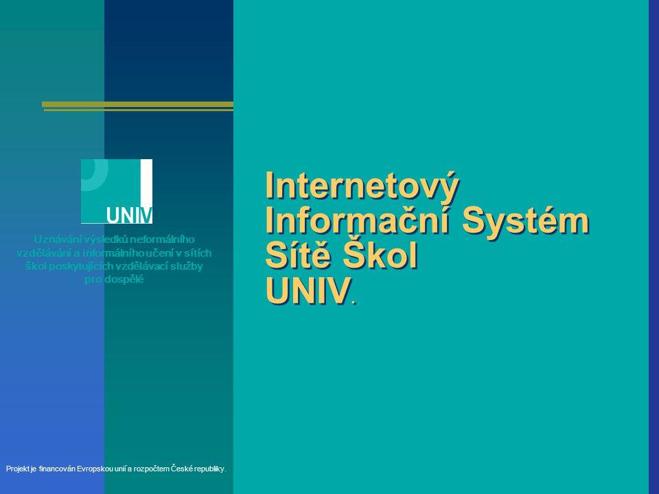 Internetový Informační Systém Sítě Škol UNIV.