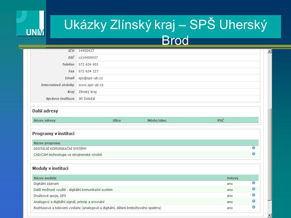 Ukázky Zlínský kraj – SPŠ Uherský Brod