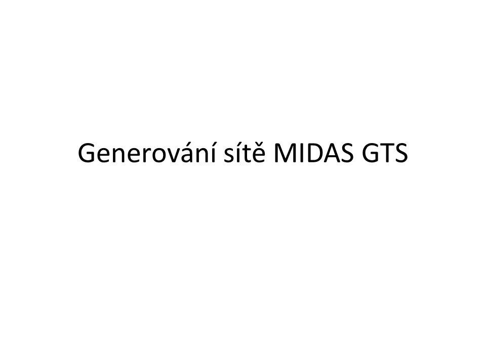 Prvky pro generování sítě MIDAS má několik typů prvků, jež využívá pro generování sítě.
