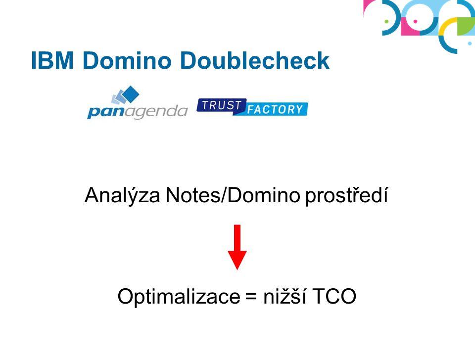 IBM Domino Doublecheck 1.Příprava Domino serverů (BP) 2.