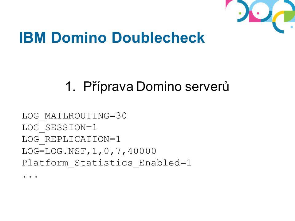 IBM Domino Doublecheck 2. Sběr dat alespoň 7 dní NE prázdniny/dovolené NE změna letního času
